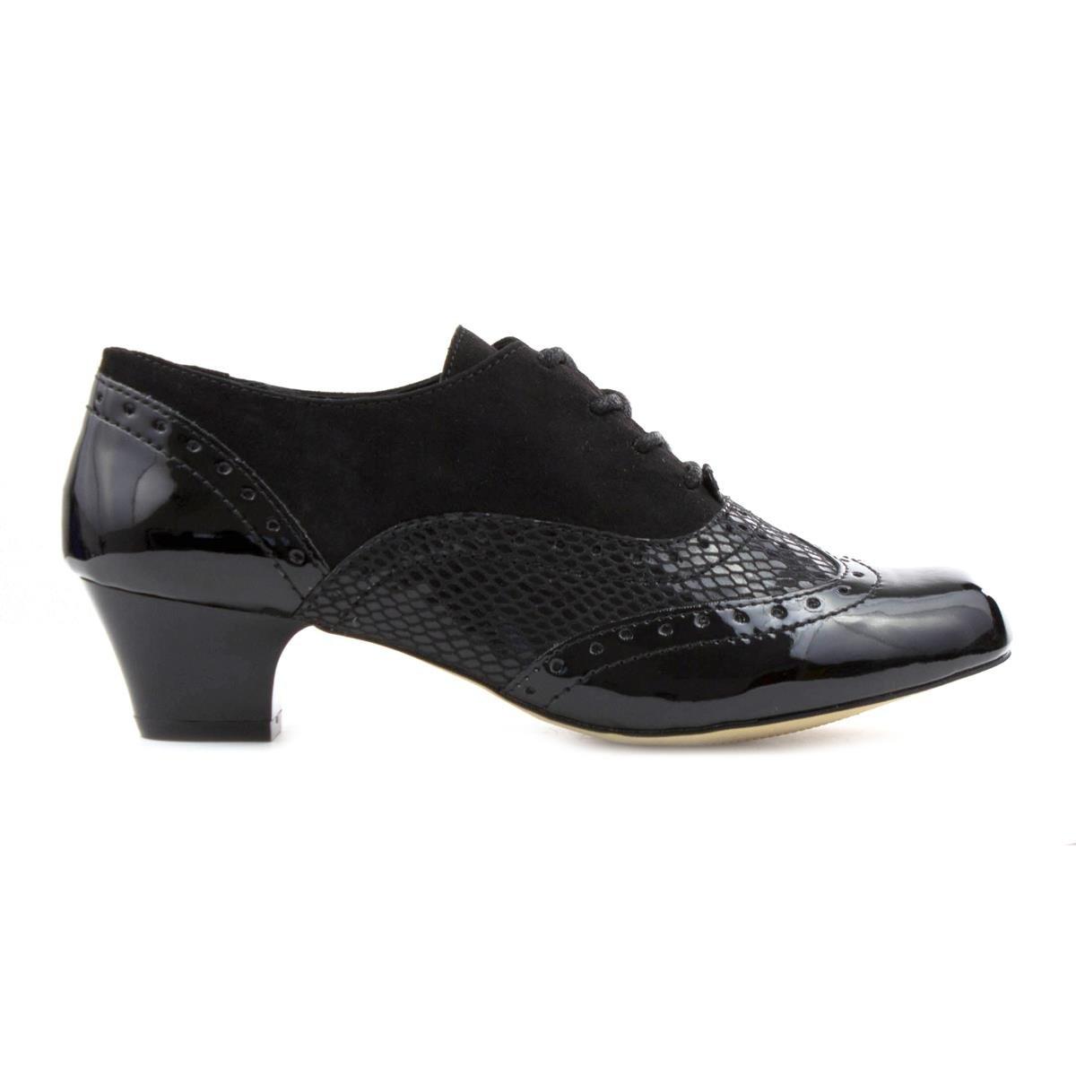 5 Femme Richelieu 35 Lotus Chaussures Noir Noir wf1vX5Saq