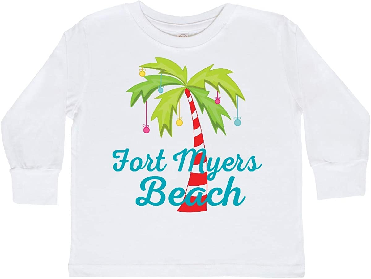 inktastic Fort Myers Beach Florida Christmas Toddler Long Sleeve T-Shirt