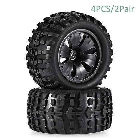 Neumáticos de Goma Huang Llantas Ruedas goma, Buggy Neumáticos para 1: 10 HPI Short