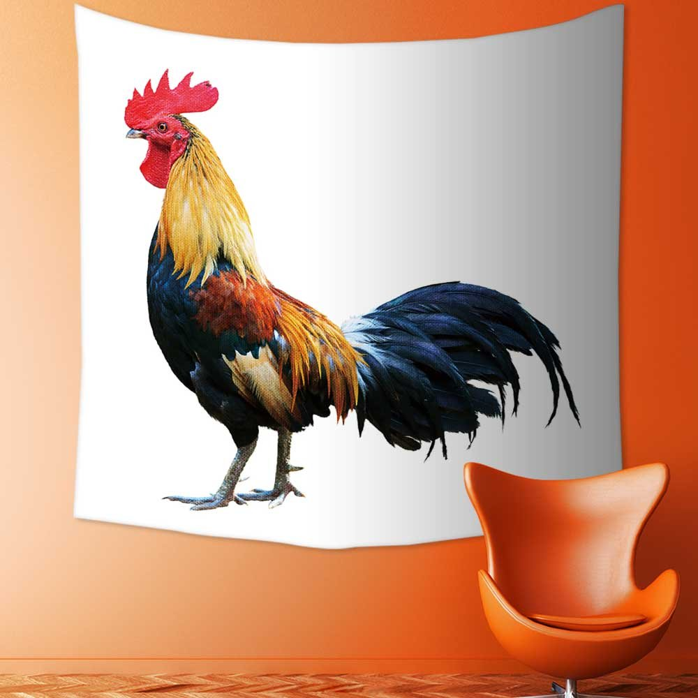 AmaPark Custom Tapestry Wall Tapestry Wall Hanging Tapestries Thai red rooster on white background of Tapestry Wall Blanket Wall Decor Wall Art Home Decor 82.7 x L59.1 inches by AmaPark