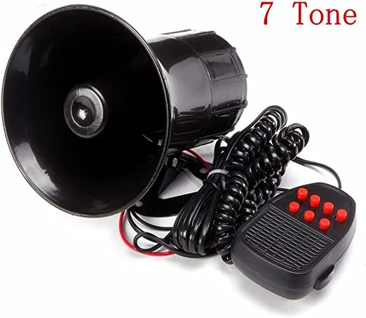 Matcc Auto Sirene Horn 7 Töne 12v 50w Hupe Alarm Horn Lautsprecher Für Auto Auto