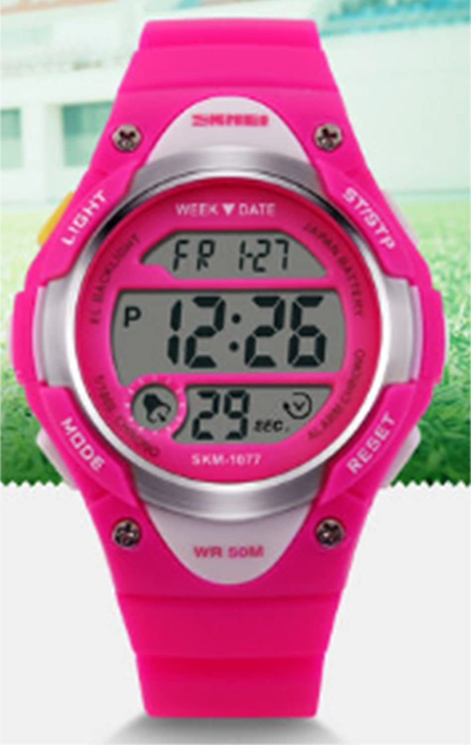 Amazon.com: Cute Rose Pink Beautiful Sports Digital Wristwatch for Girls Delicate Silicone Rubber Strap Watches: Watches