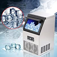Adoner 50kg Auto Commercial Ice Maker Cube Machine Stainless Steel Bar 110Lbs 230W 110V