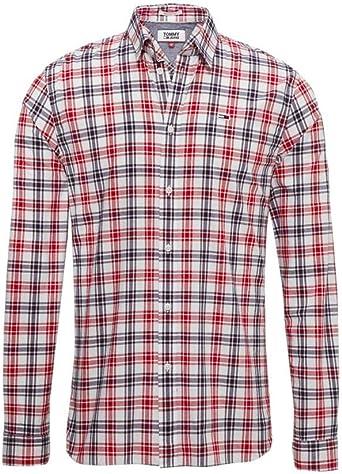 Tommy Hilfiger - Camisa Tommy Hombre Color: Blanco Talla: S: Amazon.es: Ropa y accesorios
