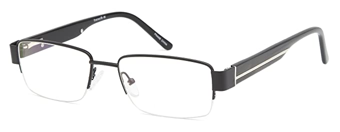 mens square black glasses frames prescription eyeglasses size 55 19 145