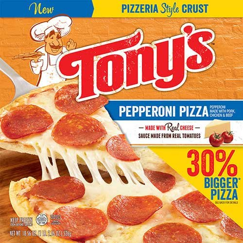 Tonys Pizzeria Style Pizza Pepperoni, 18.56 Ounce -- 16 per case. by Schwan's