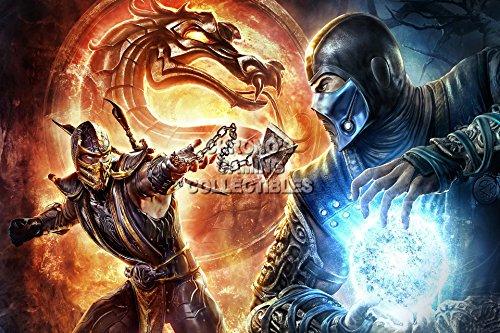cgc-huge-poster-mortal-kombat-x-scorpion-vs-subzero-ps3-ps4-xbox-360-one-mkx065-24-x-36-61cm-x-915cm