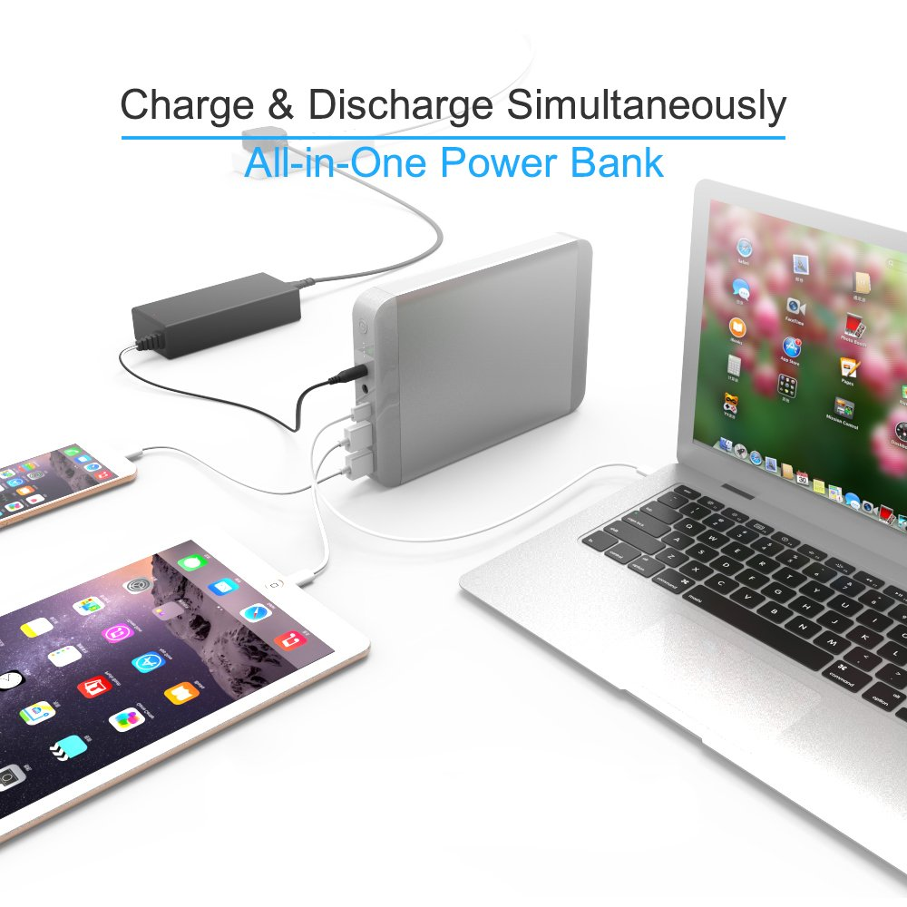 Portable Charger POWEROAK 36000mAh Type C Power Bank for MacBook/MacBook Pro/MacBook Air 11/12/13/15/17Inch 2006-2018 laptops 5/9/12/15/20V PD USB-C External Battery Pack for MacBook Smartphone by PowerOak (Image #6)