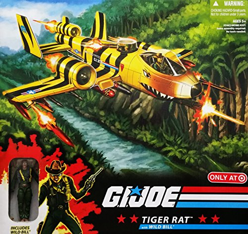 G.I. Joe 25th Anniversary Exclusive Tiger Rat VTOL Fighter Plane with Wild Bill Action ()