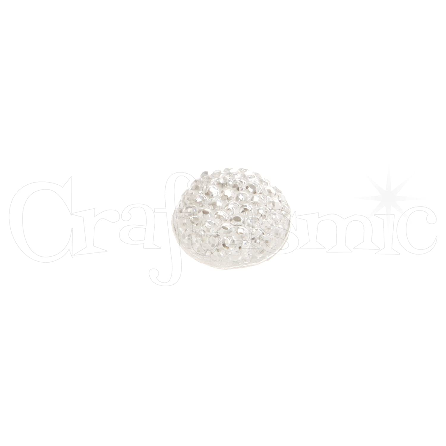 Creative Expressions Dazzlers Clear Circles 12mm 24 Embellishments 12 mm