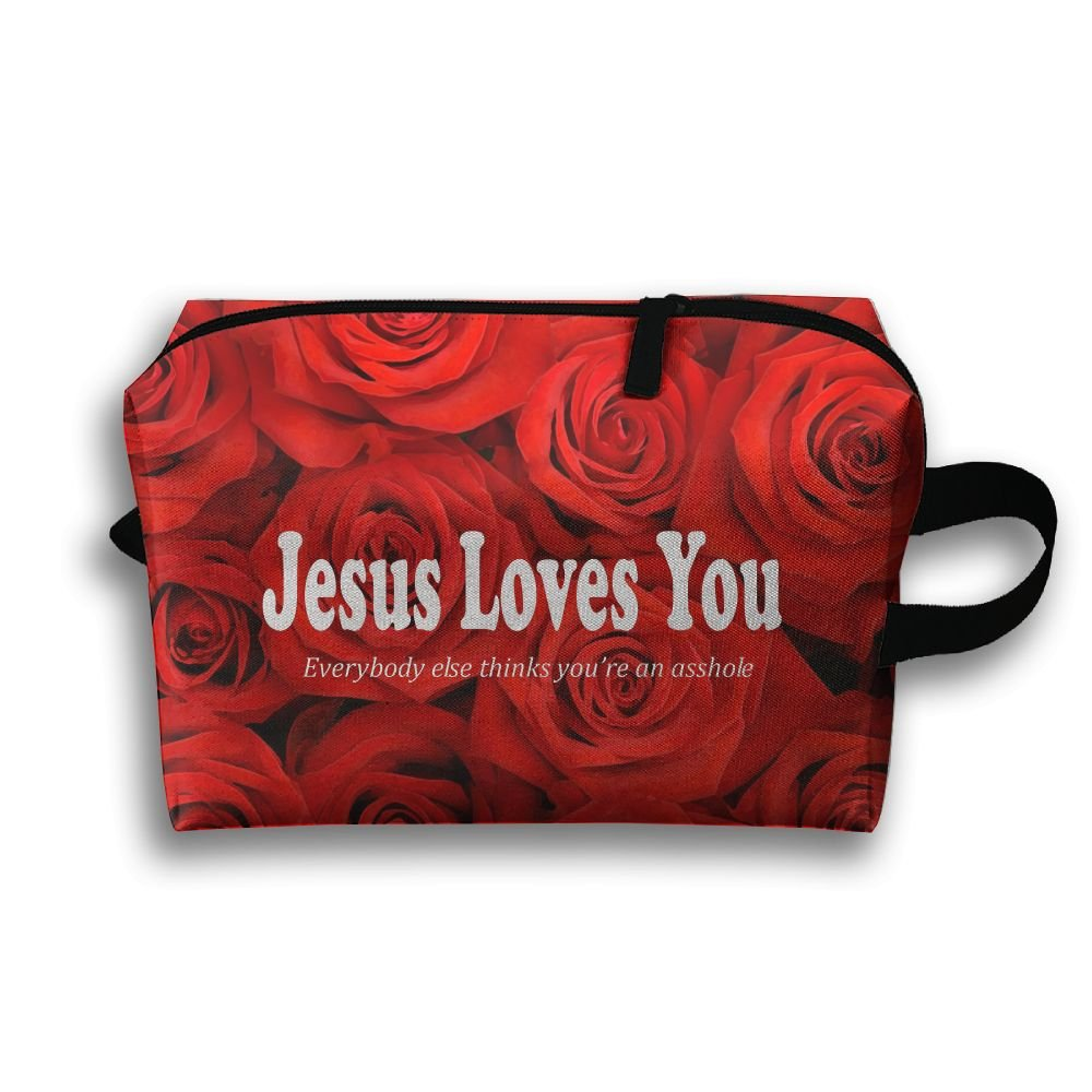 Jesus Loves You Travel Bag Multifunction Portable Toiletry Bag Organizer Storage