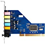 SainSonic PCI 8 Channel 7.1 Sound Card 3D PCI Surround Sound Audio Card with Optical CMI8768 Chipset for Windows 7, Vista, XP