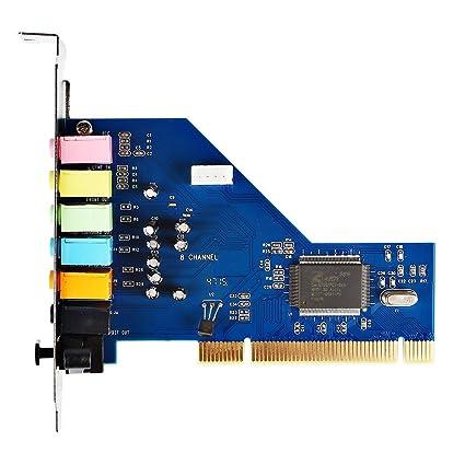 SainSonic PCI 8 Channel 7.1 Sound Card 3D PCI Surround Sound Audio ...