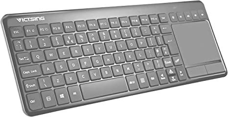 Computer Wireless Handheld PC Keyboard /& Mouse Touchpad for Laptop +Highly Recommended Black