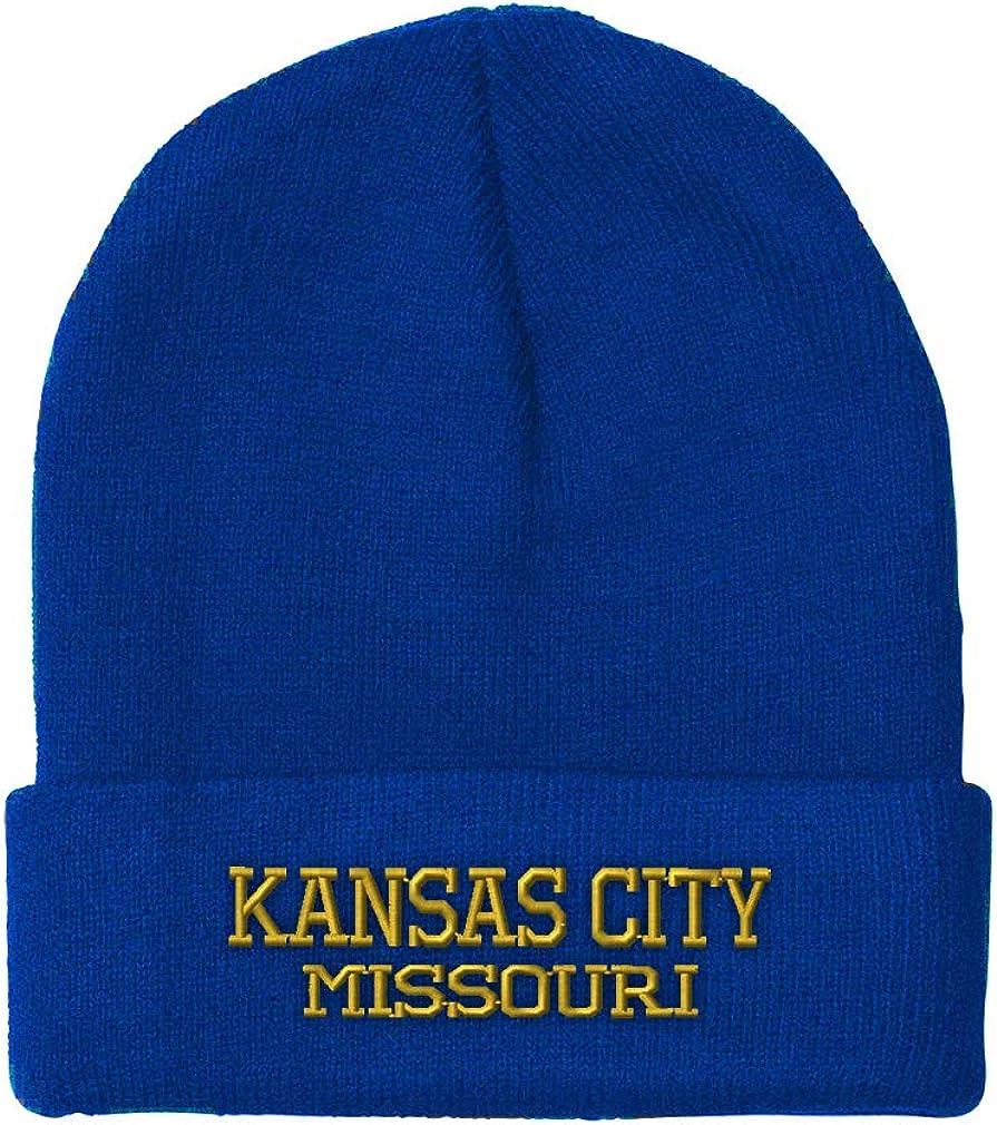 Custom Beanie for Men /& Women Missouri Kansas City State USA Embroidery Acrylic