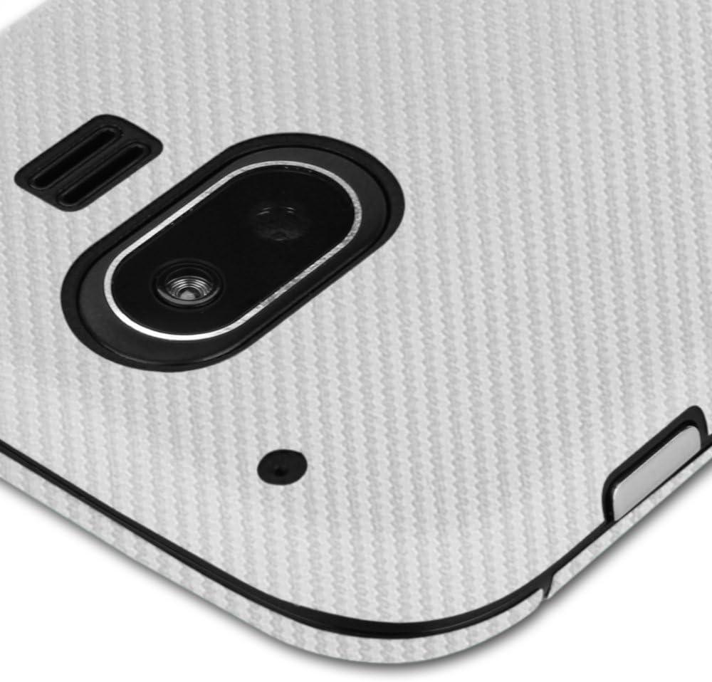 Full Coverage TechSkin with Anti-Bubble Clear Film Screen Protector Skinomi Silver Carbon Fiber Full Body Skin Compatible with ZTE Compel