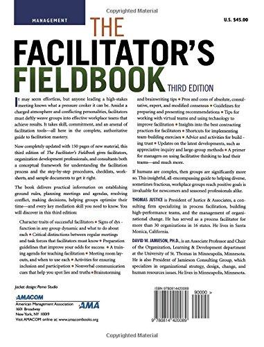 The Facilitator's Fieldbook: Tom Justice, David W. Jamieson Ph.D ...