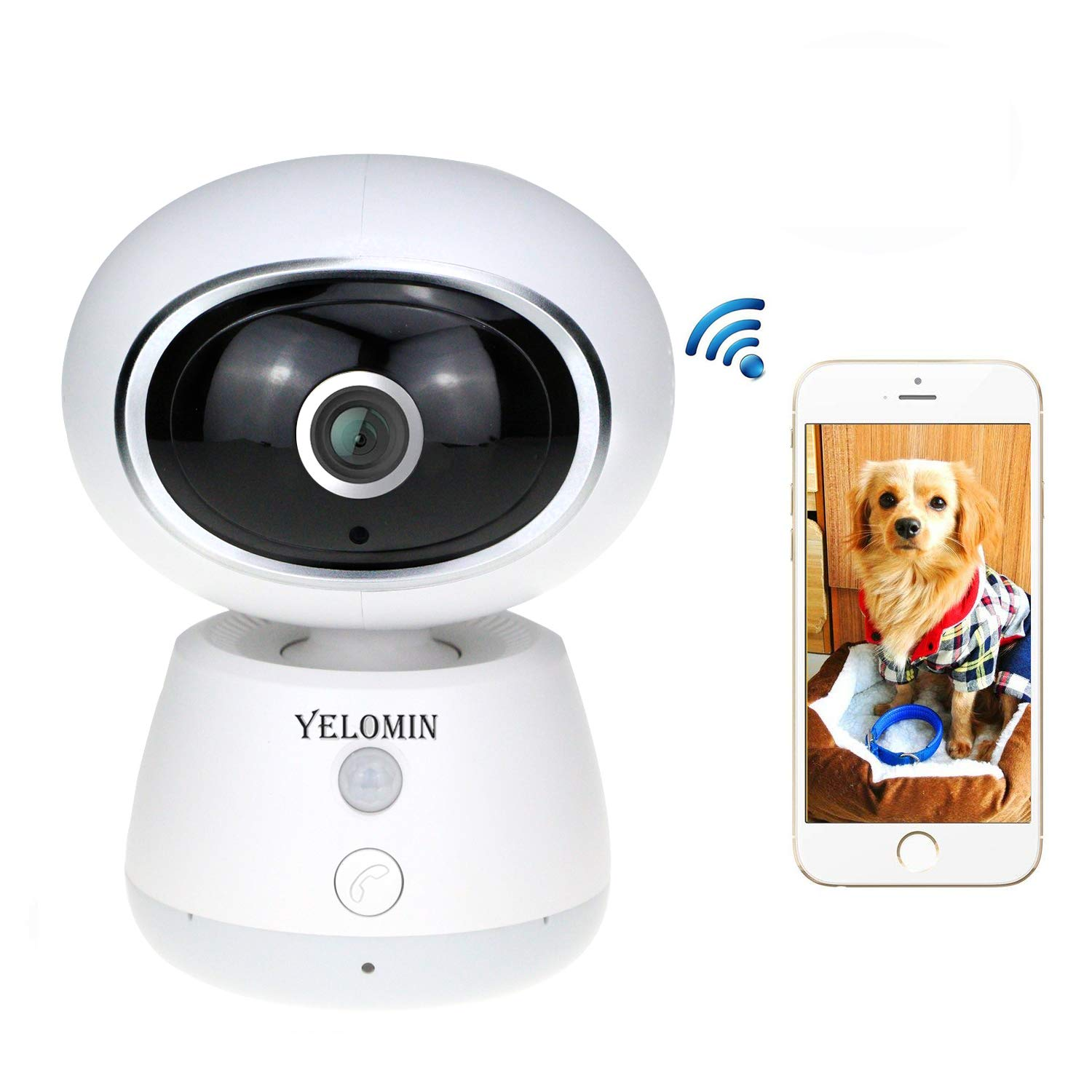 1080P WiFi Pet Camera,IP Camera for Dog Cat Baby Monitor,HD Wireless Home  Surveillance Security Cam with iPhone Android, Pet Cameras with Night  Vision