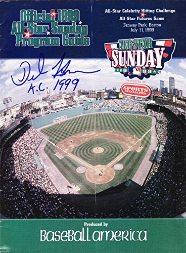 DEE BROWN SIGNED FENWAY PARK BOSTON 1999 ALL STAR FUTURES GAME PROGRAM KC ROYALS
