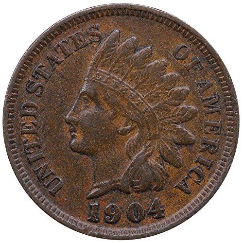 1904 U S  Indian Head Cent Full Liberty Full Rim 1C Fine To Xf