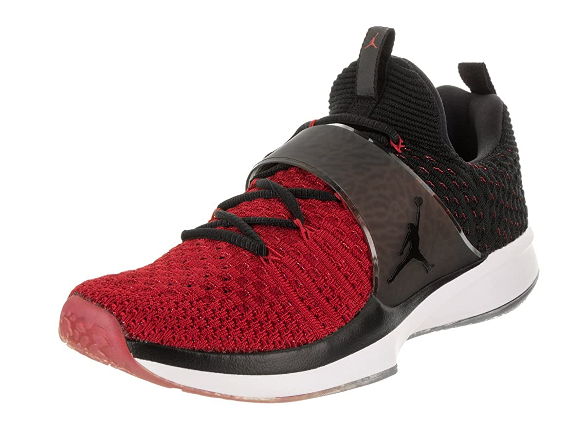 Nike Jordan Trainer 2 Flyknit Men's Training Shoes Gym RedBlack Black 921210 601 (8 D(M) US)