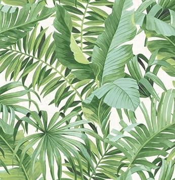 Fd24136 Solstice Tropical Green Leaf Fine Decoration Interieure