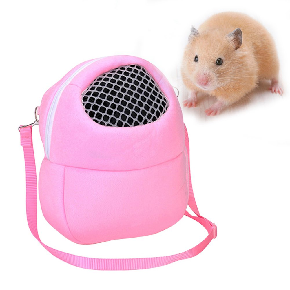 Balai Small Pet Hamster Carrier Bag Animal Outgoing Bag with Shoulder Strap Portable Travel Handbag Backpack for Hedgehog Hamster, Blue S