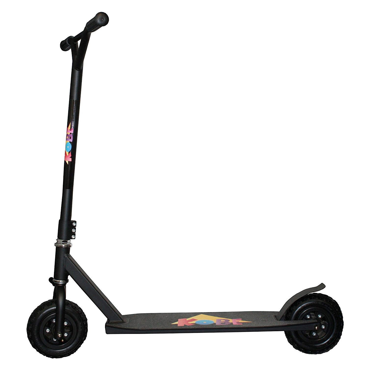 KOBE 360 Dirt Off-Road Scooter with Reinforced Steel & Curved BMX T-Bar, Black