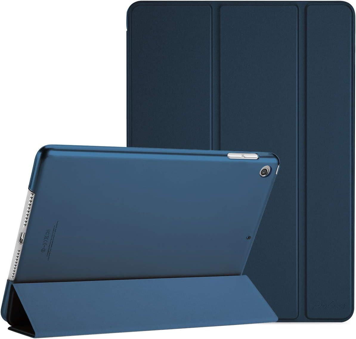 ProCase Funda Inteligente para iPad Mini 2019, Carcasa Folio Ligera y Delgada con Smart Cover / Reverso Translúcido Esmerilado / Soporte, para Apple iPad Mini 5ª Generación –Azul Marino
