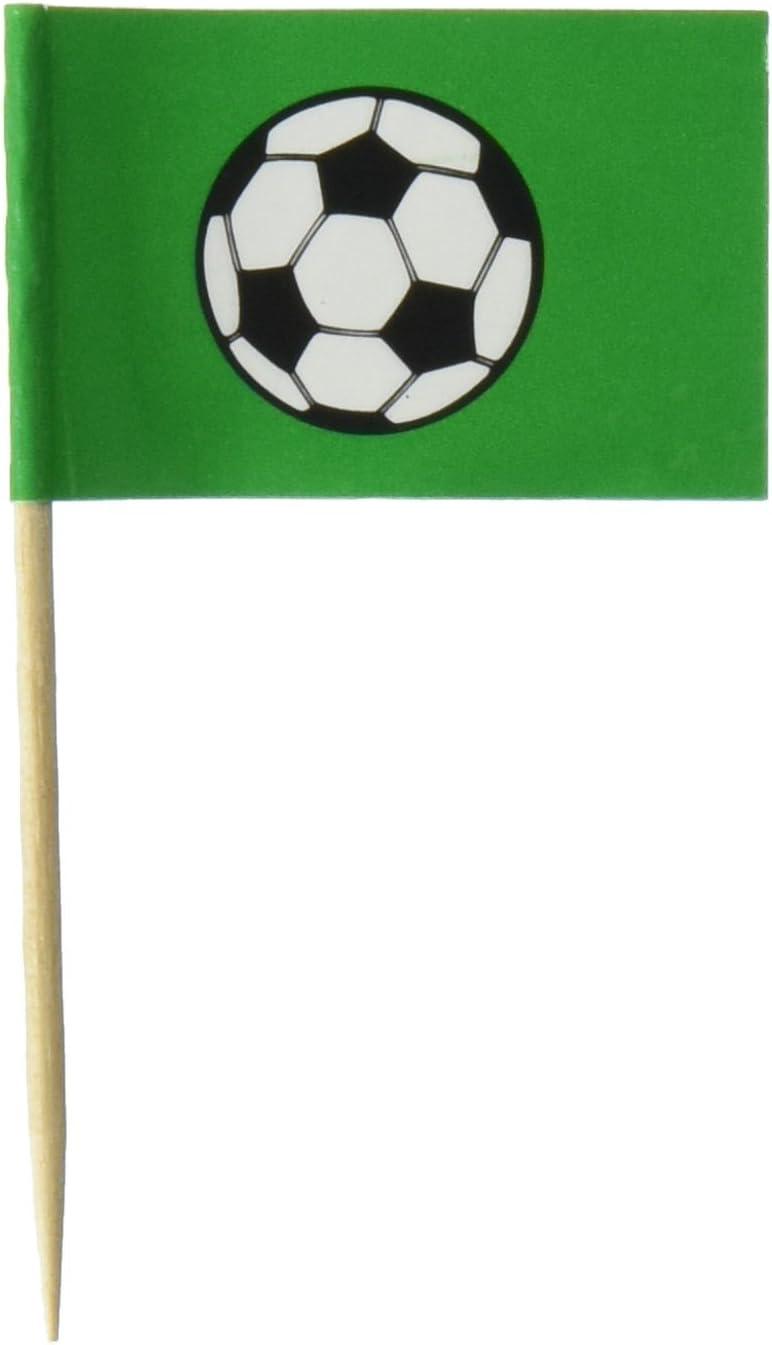 Beistle 50-Pack Soccer Ball Picks, 2-1/2-Inch