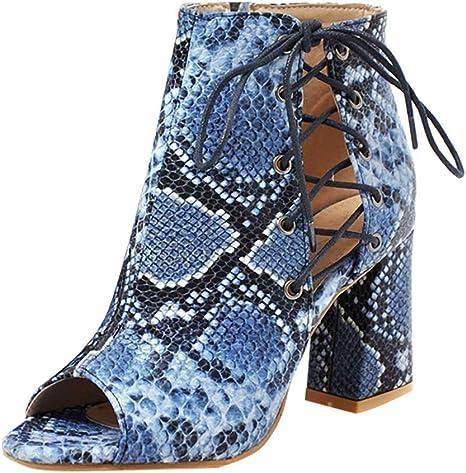Sandali da Donna con Punta Aperta Sandali con Lacci