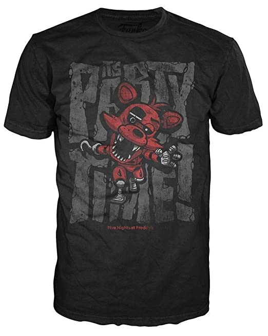 Amazon.com: Funko POP! Tees Five Nights At Freddys Foxy Pirate Cove T-shirt For Kids: Clothing
