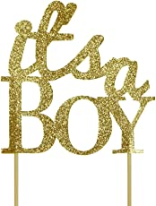 All About Details Gold It's-a-boy Cake Topper
