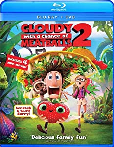 Cover Image for 'Cloudy with a Chance of Meatballs 2 (Two Disc Combo: Blu-ray / DVD + UltraViolet Digital Copy)'