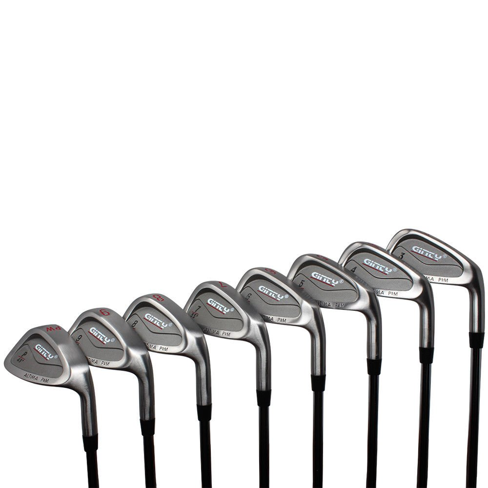 Ginty Golf Clubs Altima Complete 8-Piece XL Big & Tall Men's +3'' Over Standard Length (Heavy Weighted - Extra Weight) Iron Set (3-PW) Premium Steel Shaft - Stiff Flex by Ginty Altima PbM Iron Set