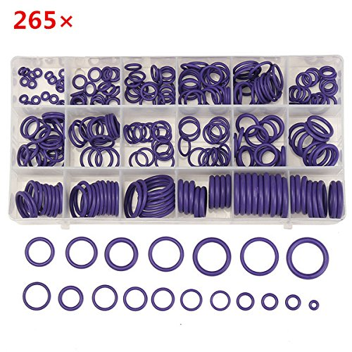 New 265Pcs R22/R134a Air Conditioning O-Ring Rubber Rings Waterproof Washer
