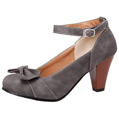 Taoffen Zapatos Mujer Tacón esY Bombas AltoAmazon nvm8ONw0