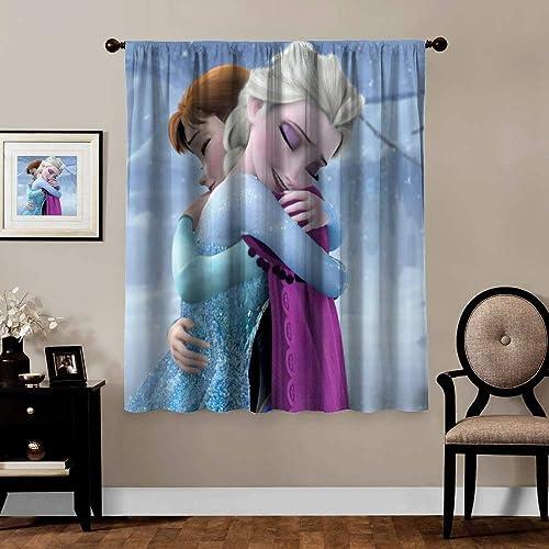 Blackout Curtains,Anna Elsa 3