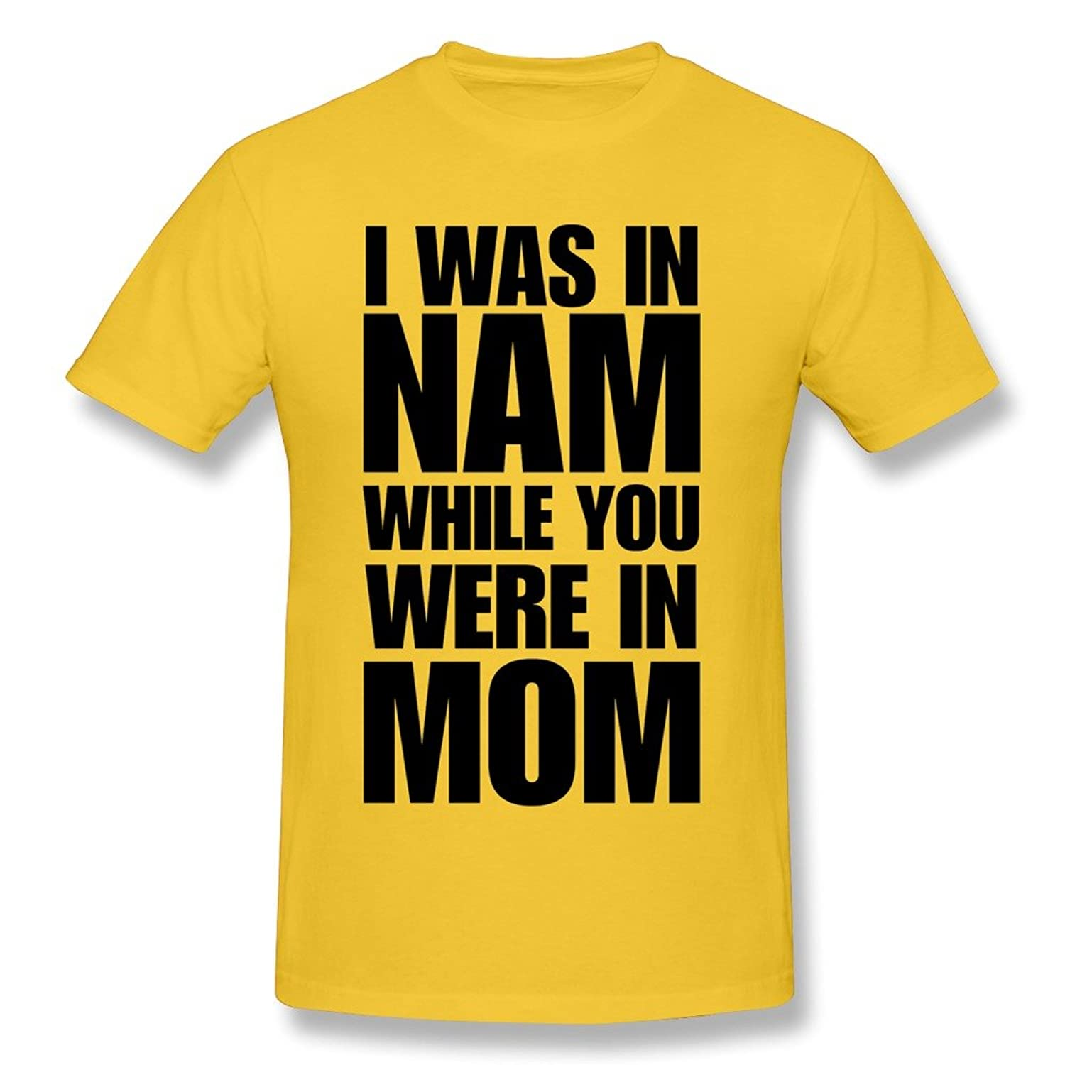 Ryan Men's Tee I Was In Nam Mom Yellow