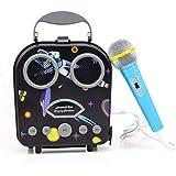 FlyCreatカラオケマイク カラオケおもちゃ 子どものマイク キッズプレゼント おもちゃカラオケ ミュージカルおもちゃ ミュージック遊び カラオケマシン 子供玩具 知育玩具Bluetoothで簡単に接続 音楽プレーヤー メロディー誕生日ギフト 高音質カラオケ機器 一人でカラオケ マイク付き 楽器 おもちゃ 多機能 音声 音楽おもちゃ 楽器おもちゃ 女の子 男の子 誕生日プレゼント クリスマスプレゼントAndroid/iPhoneに対応 日本語取扱説明書付き (ブラック)