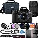 Canon EOS Rebel T6i 24.2MP Digital SLR Camera Retail Packaging Accessory Bundle (18-55mm & 75-300mm Premium Bundle)