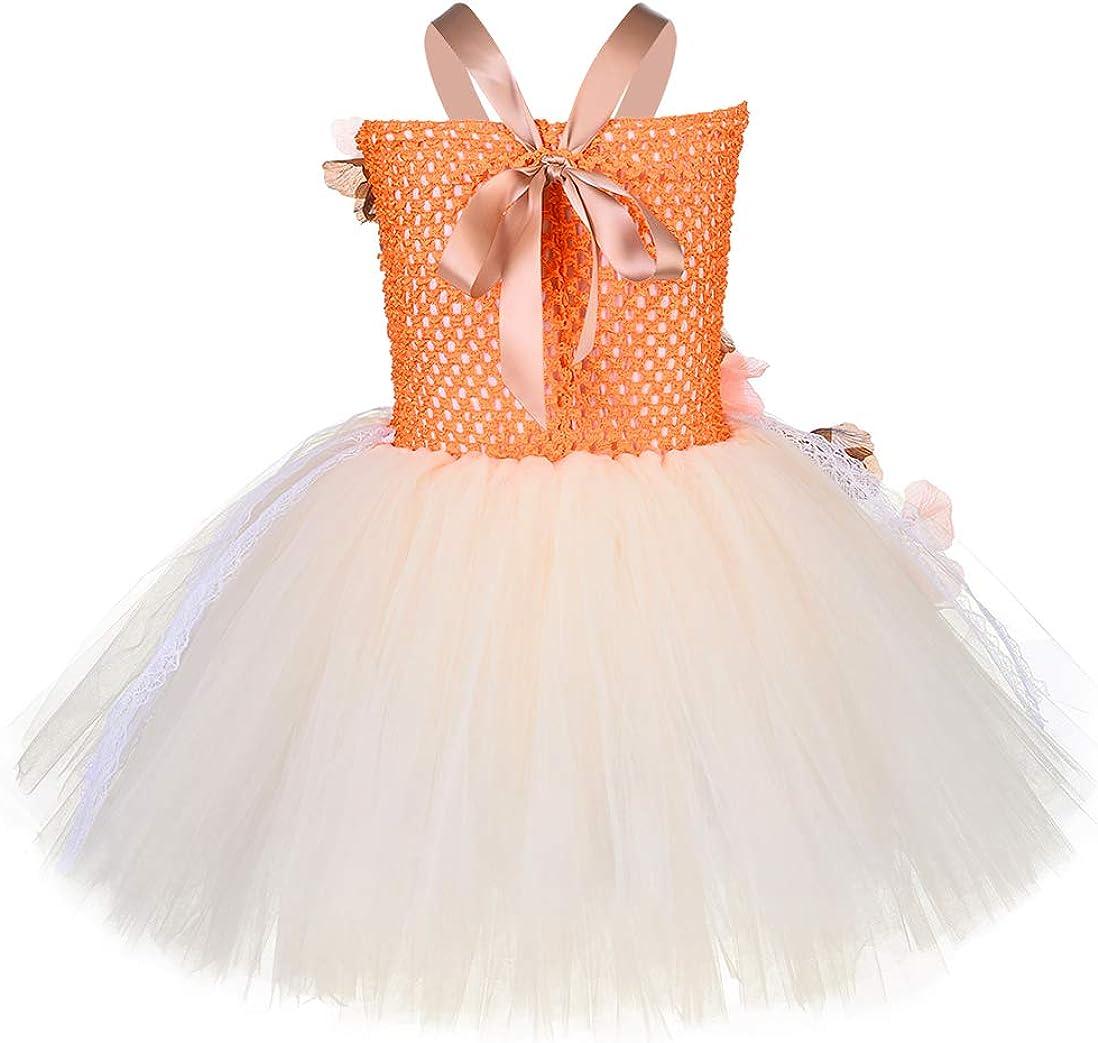 Princess Moana Tutu Dress Girls Birthday Party Lace Tulle Flower Costume Cosplay