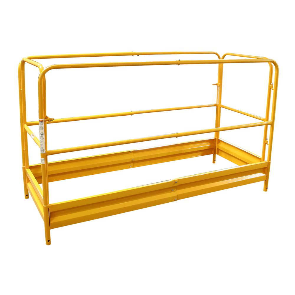 Pro-Series Painting Patching Drywall Window Cleaning 6Foot Scaffolding Guard Rail System Yellow Buffalo Series GSGRSU