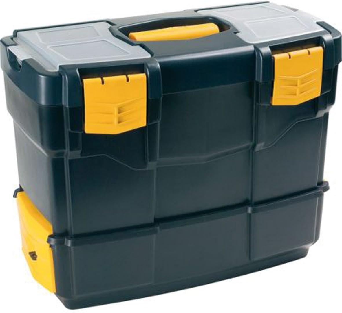 De pl/ástico, Negro, Amarillo Amarillo caja de herramientas Polipropileno Negro Art Plast 6500V De pl/ástico cajas de herramientas