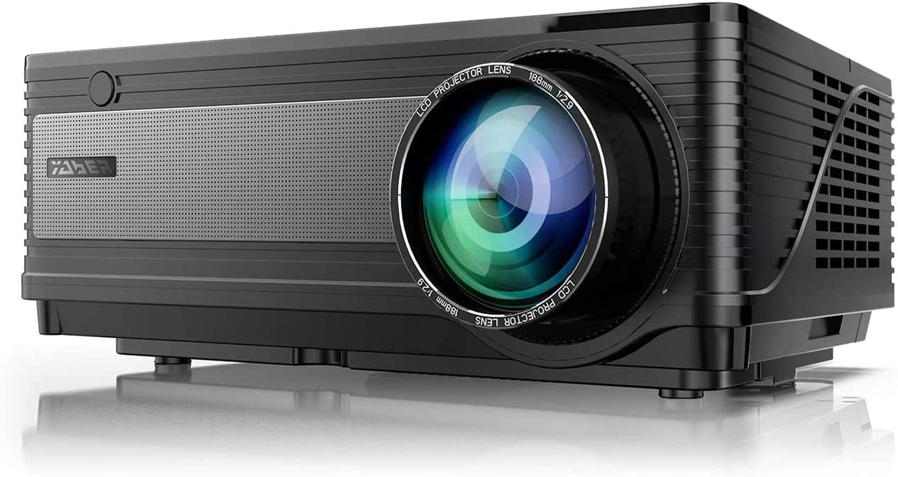 Yaber Proyector 5500 lúmenes proyector nativa1920 x 1080 Soporte 4K LED Proyector 300