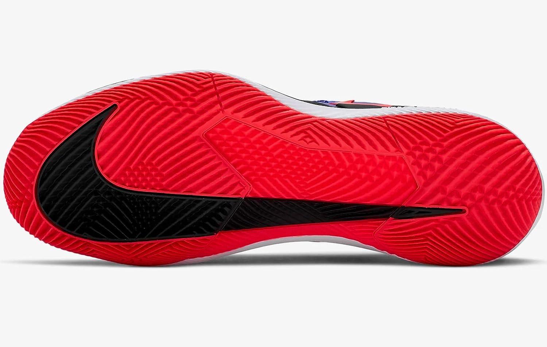 Nike Air Zoom Vapor X Hc tennisschoenen voor heren, wit meerkleurig (Racer Blue/Bright Crimson/Black/White 402)