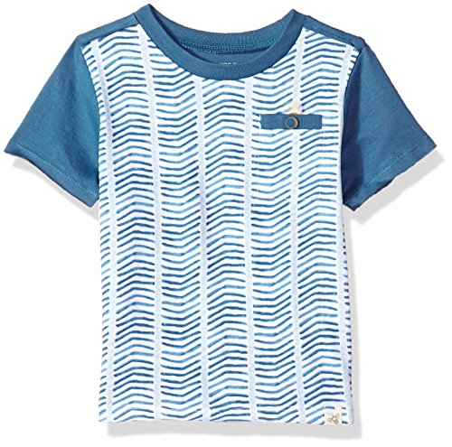 l's Little Kids Short Sleeve and Sleeveless Tees, Tank Tops, 100% Organic Cotton, Blue Star Chevron, 7 Years ()