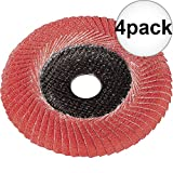 Metabo 626460000 5'' x 7/8 P60 60 Grit Ceramic Convex Flap Disc 4-Pack