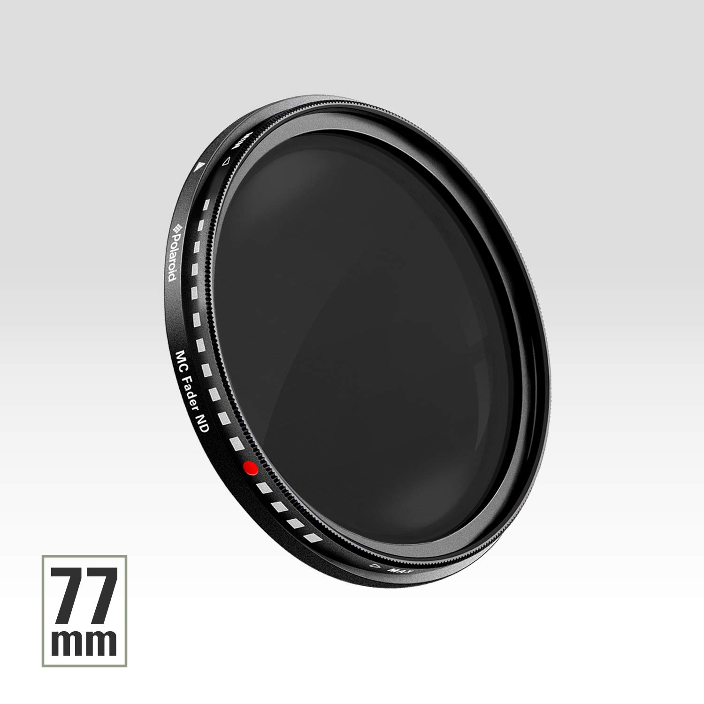 Polaroid Optics 77mm HD Multi-Coated Variable Range ND2-ND2000 Neutral Density ND Fader Filter