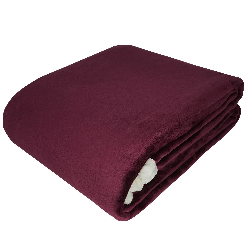 VOIMAKAS Couverture en Coton Plaid Blanket pour Chaise Sofa Lit Châle Bureau Souple Chaude Douce au Toucher Couverture Polaire Couvre Couverture Plaid Peluche pour Bébé Adulte (120 x 180cm, Beige)